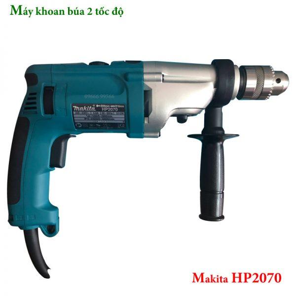 Máy khoan búa 2 tốc độ Makita HP2070