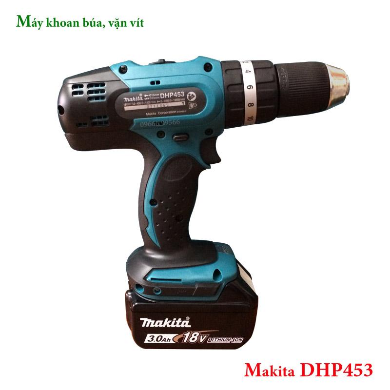 Máy khoan búa dùng pin Makita DHP453