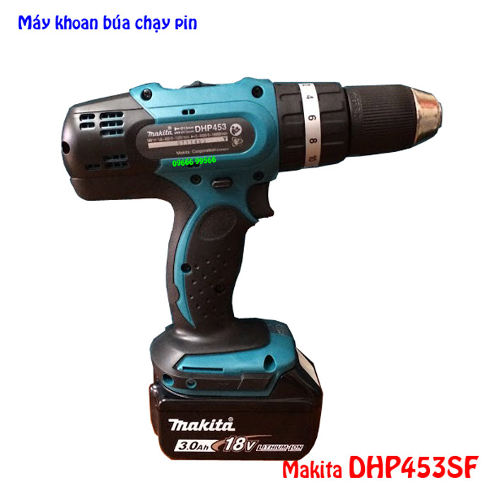 Máy khoan búa dùng pin Makita DHP453SF